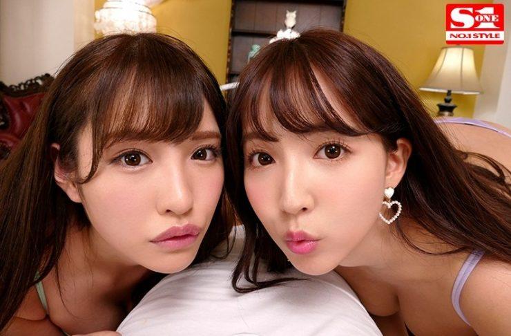 【VR】エスワン15周年スペシャル共演 日本一のAV女優2人と超豪華ハーレム逆3P体験2