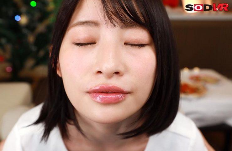 【VR】ぷっくりエロ唇のキス魔な年下彼女と 最初から最後までずうっ~と甘えキス・本気ベロちゅうで キス100回以上のラブラブ濃密な聖夜VR! 宮島めい2